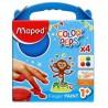 Farby do malowania palcami 4 kolory x 80g Maped dla dzieci 1+ Color Peps