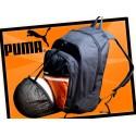 Plecak sportowy Puma na piłkę - czarno-pomarańczowy
