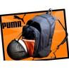 Plecak Puma z kieszenią na piłkę czarny pomarańczowy