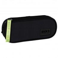 Piórnik czarny młodzieżowy FLUO BLACK BackUP gładki A56