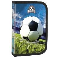 Piórnik z piłką nożną jednokomorowy DERFORM z wyposażeniem  Football 2021