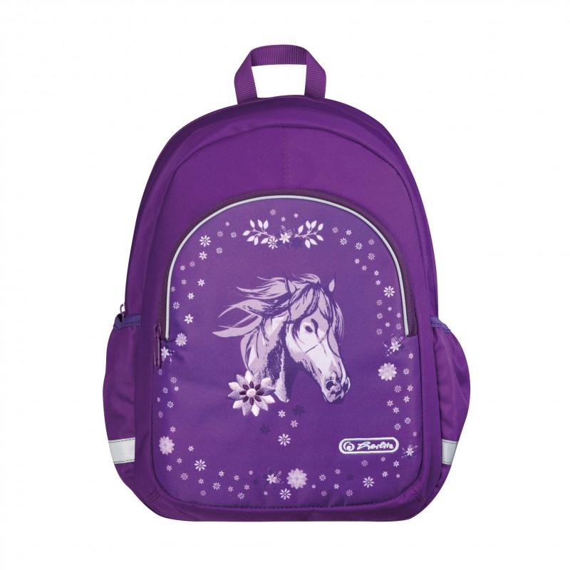 PLECAK Herlitz - fioletowy koń