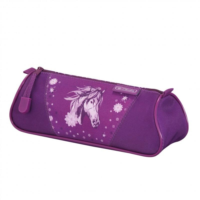 PIÓRNIK KOSMETYCZKA TRÓJKĄTNA FLEXI - Glitter Horse