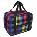 TORBA - bagaż podręczny 42x32x21 - mały wizzair - niebieski, różowy, zółty, pasy.