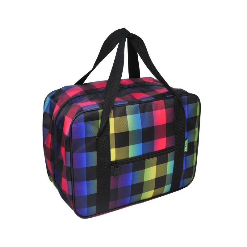 TORBA - bagaż podręczny 42x32x25 - mały wizzair - niebieski, różowy, fioletowy