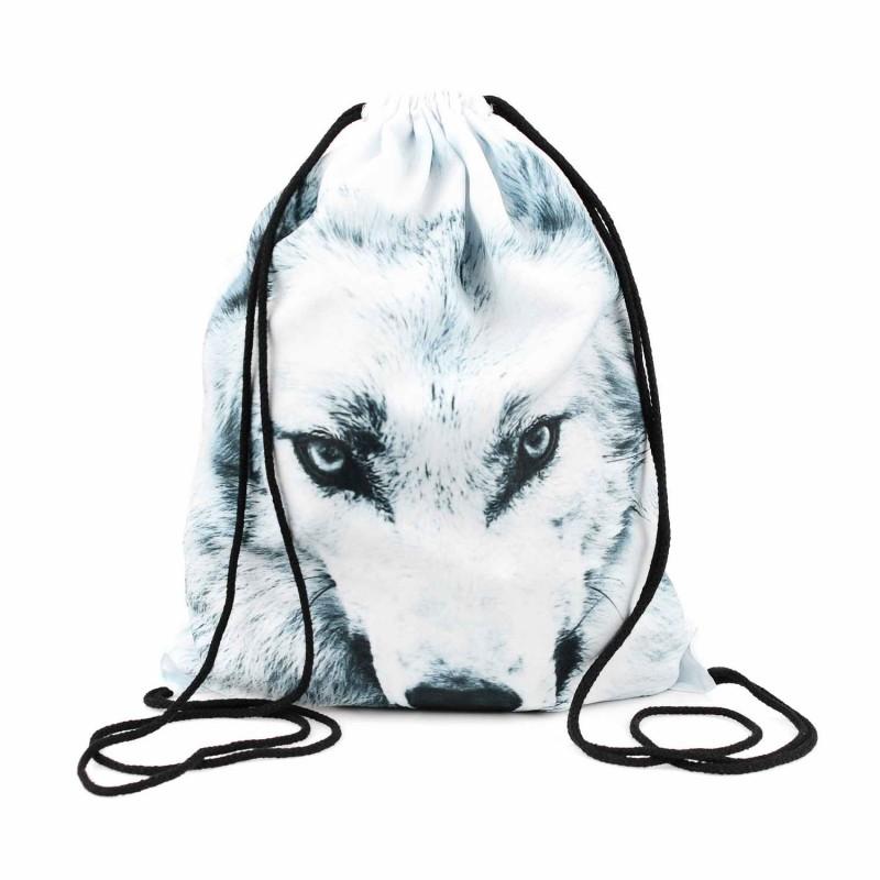 PLECAK/WOREK - FULL PRINT white wolf