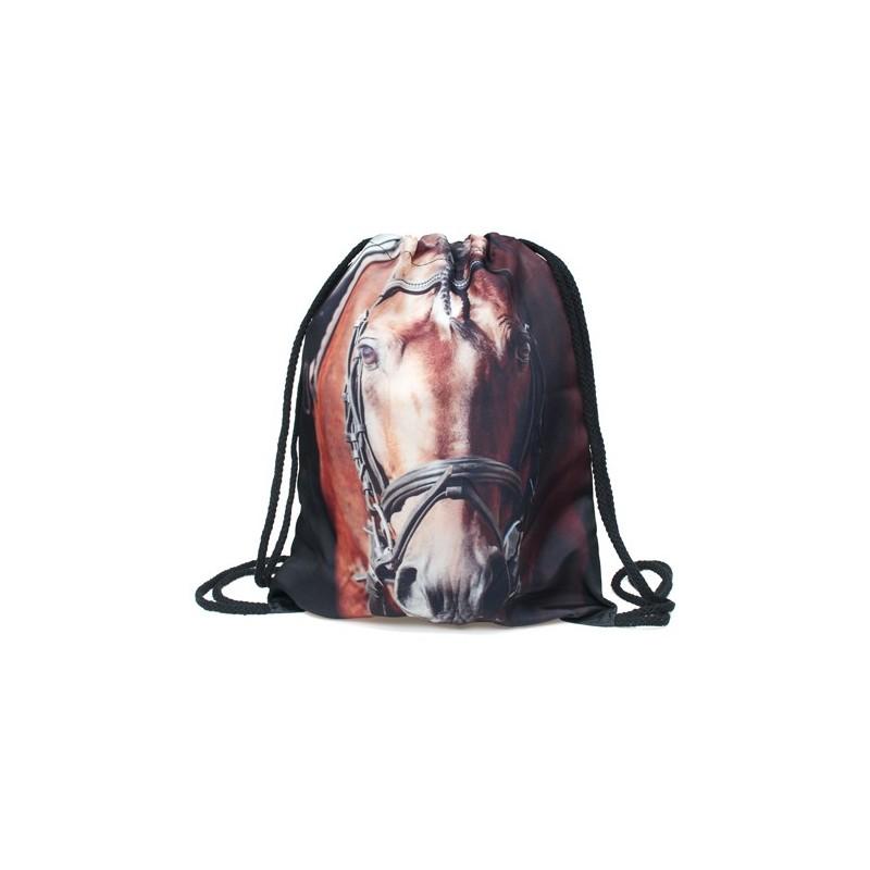 PLECAK/WOREK - FULL PRINT Brązowy koń