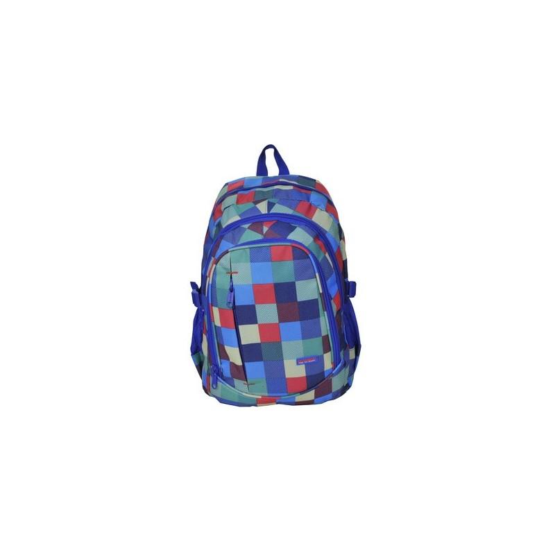 Plecak młodzieżowy kolorowa krata