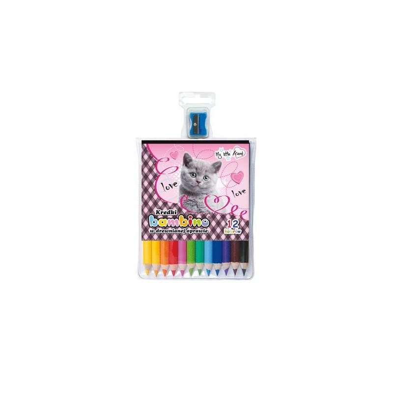 KREDKI BAMBINO 12 kolorów - MY LITTLE FRIEND kotek