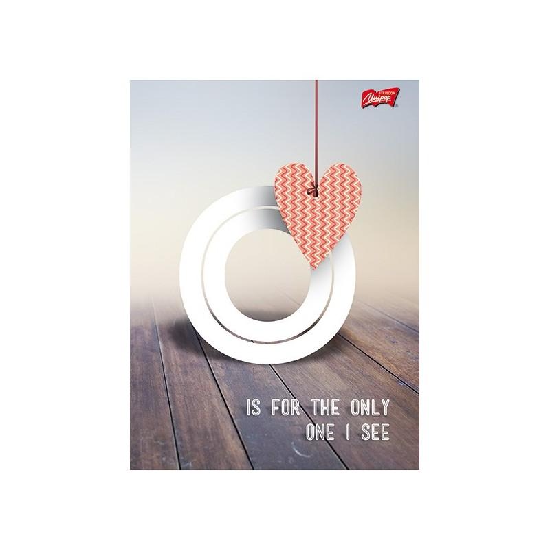 ZESZYT A5 / 96 kartek w kratkę - LOVE O