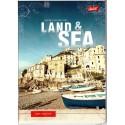 ZESZYT A5 / 60 kartek w kratkę MIX WZORÓW- LAND&SEA