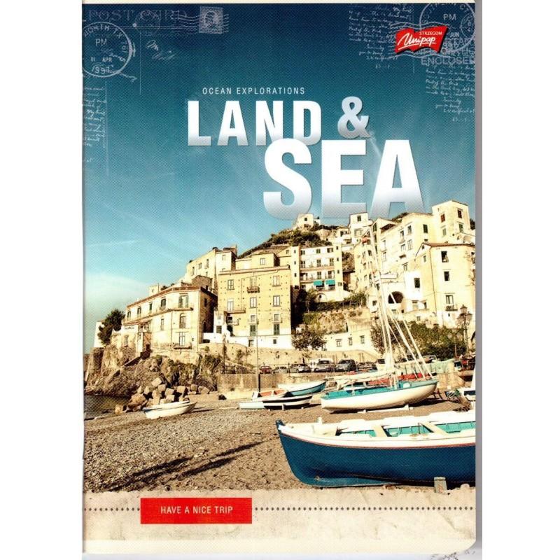 ZESZYT A5 / 60 kartek w kratkę - LAND&SEA Francja