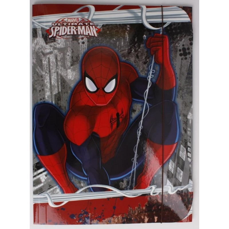 TECZKA Z GUMKĄ A4 - Spider-Man czerwona Nowość!
