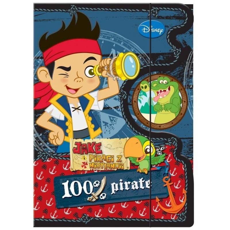 TECZKA Z GUMKĄ A4 - Jake i piraci z Nibylandii czarna
