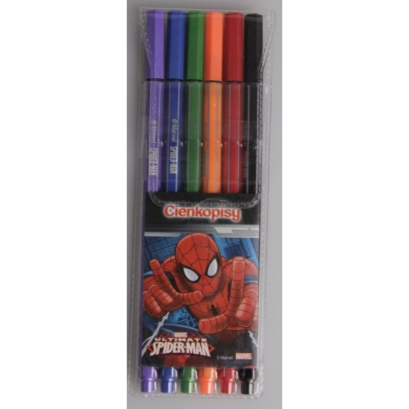 CIENKOPISY - SPIDER-MAN 6 kolorów