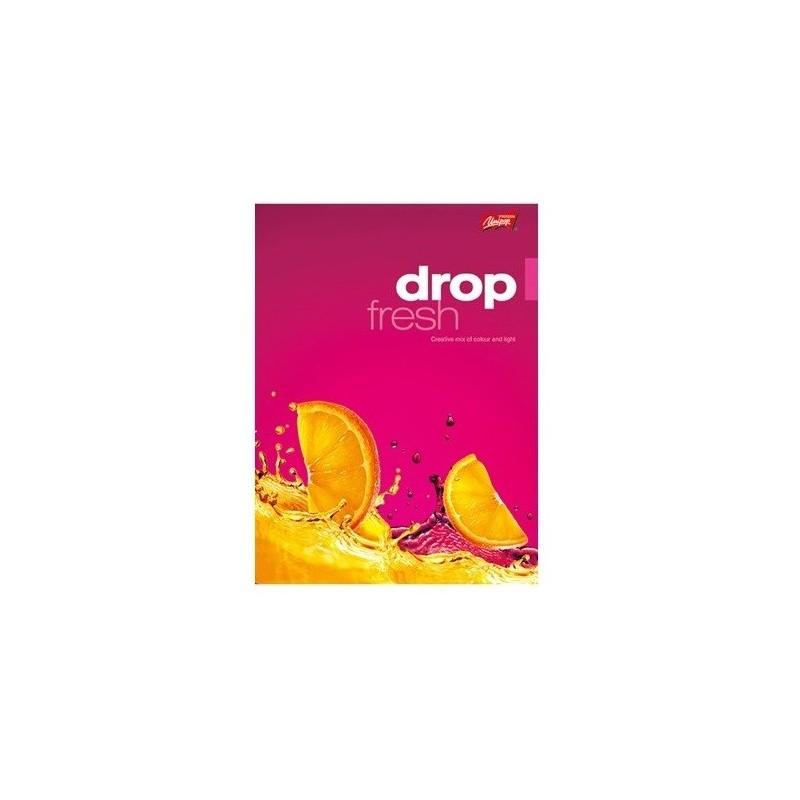 ZESZYT A5 / 60 kartek w grubą linię DROP FRESH OWOCE 2 WZORY