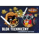 BLOK TECHNICZNY Z KOLOROWYMI KARTKAMI A4/ 10k. - ANGRY BIRDS STAR WARS