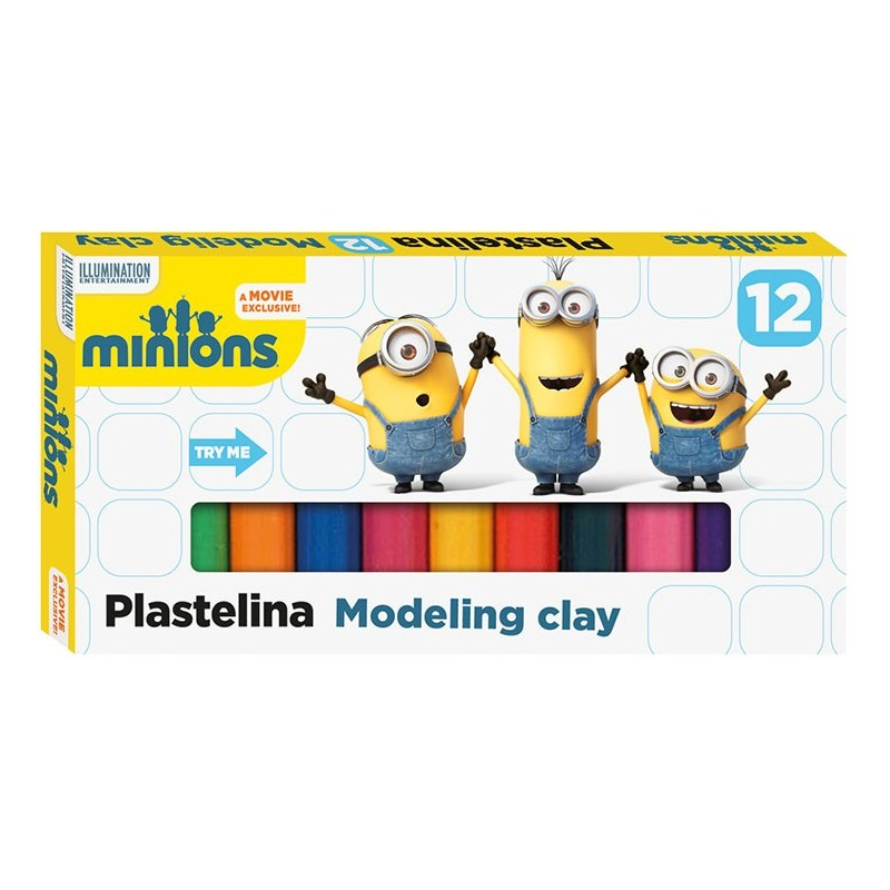 PLASTELINA - MINIONKI 12 kolorów
