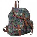 Plecak młodzieżowy Canvas Vintage motyle - zielony