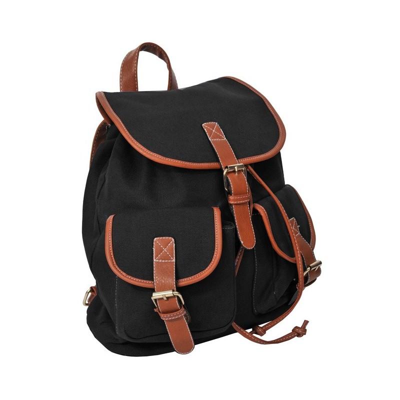 Plecak młodzieżowy Canvas Vintage - klasyczny czarny