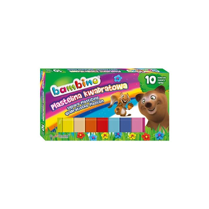 PLASTELINA KWADRATOWA BAMBINO - 10 kolorów