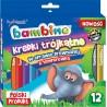 KREDKI BAMBINO 12 kolory - mix. 4 wzory
