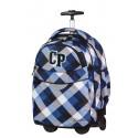 Plecak na kółkach CoolPack CP niebieski w kratkę dla chłopca RAPID CAMBRIDGE CP 466