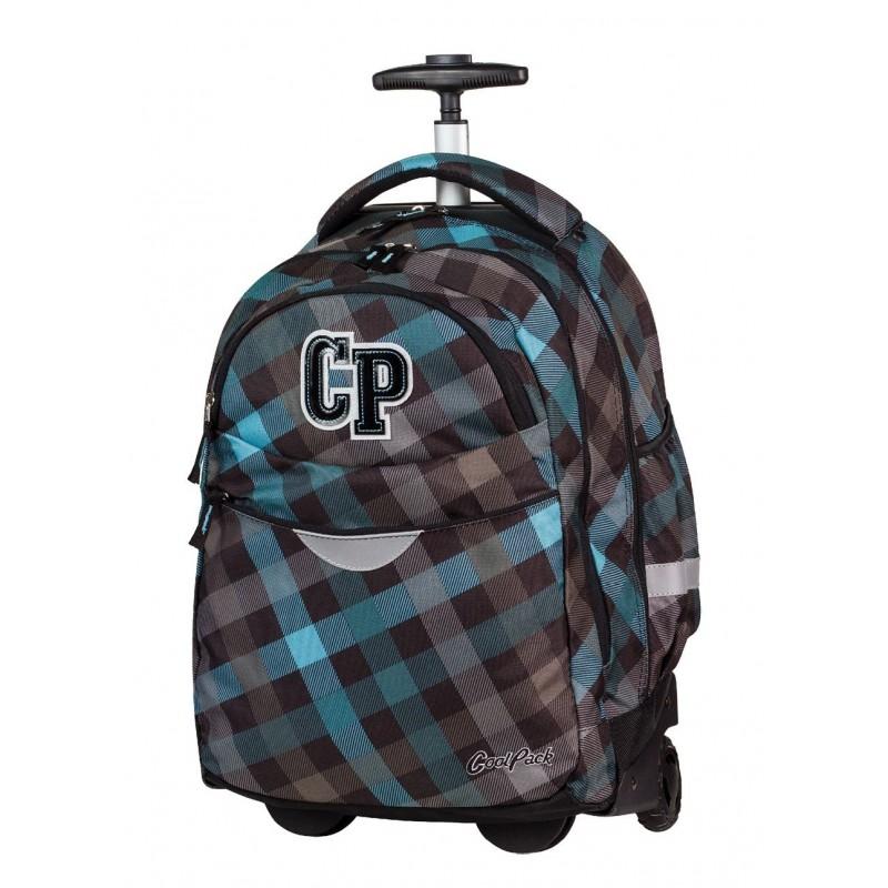 Plecak na kółkach CoolPack CP w ciemną, szaro niebieską kratkę RAPID CLASSIC GREY 487
