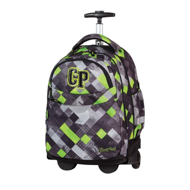 Plecak na kółkach CoolPack CP szaro zielony w kratkę RAPID GRUNGE GREY 457