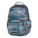 Plecak młodzieżowy na laptop CoolPack CP szare i niebieskie paski SMASH GREY TWIST 400