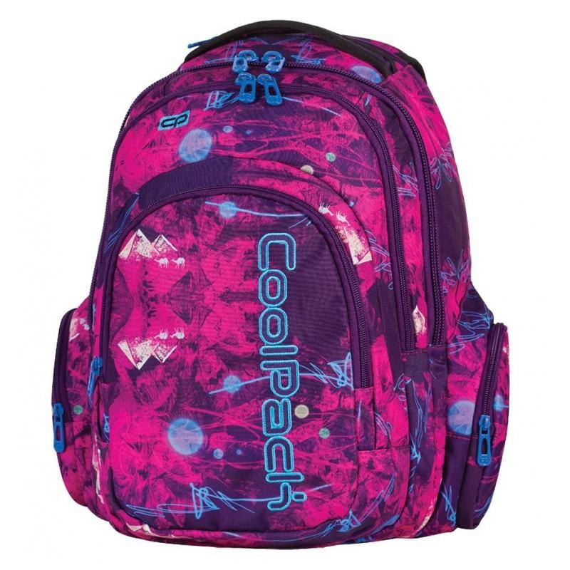 Plecak młodzieżowy CoolPack CP fioletowo-różowy z piramidami SPARK 537