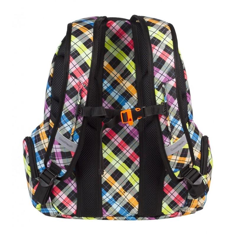 8ef3f3646cd12 Plecak szkolny CP Spark Colour Check w kolorową kratkę dla dziewczynki