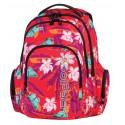 Plecak młodzieżowy CoolPack CP czerwony w kwiaty i motyle SPARK BAHAMAS 580