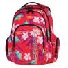 Plecak młodzieżowy COOLPACK CP czerwony w egzotyczne kwiatki i motyle SPARK BAHAMAS 580
