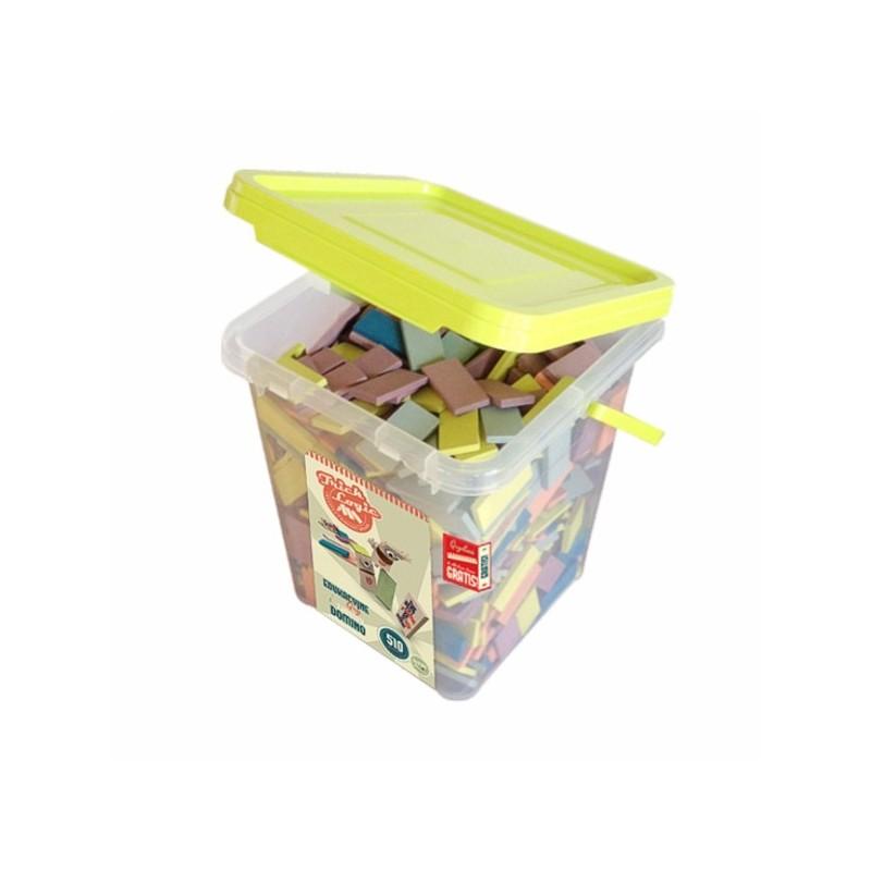 TrickLogic - zestaw płytek kreatywnych domino, klocki z drewna przeznaczony dla przedszkoli i szkół