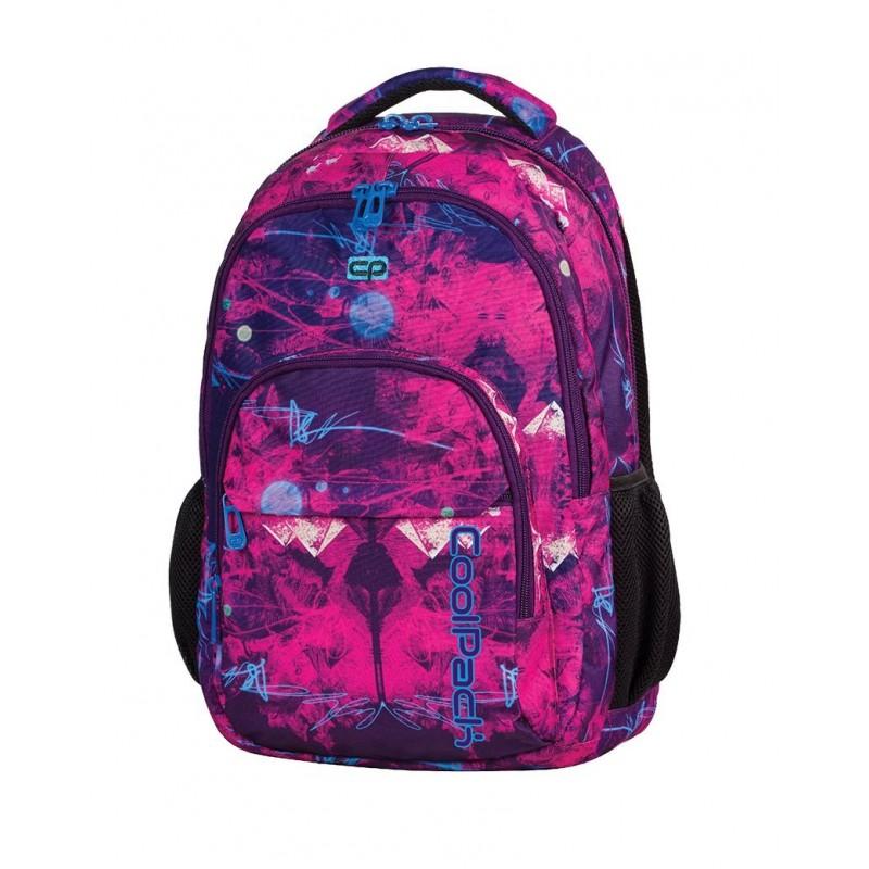 Plecak młodzieżowy CoolPack CP różowy i fioletowy deseń BASIC PURPLE DESERT 538