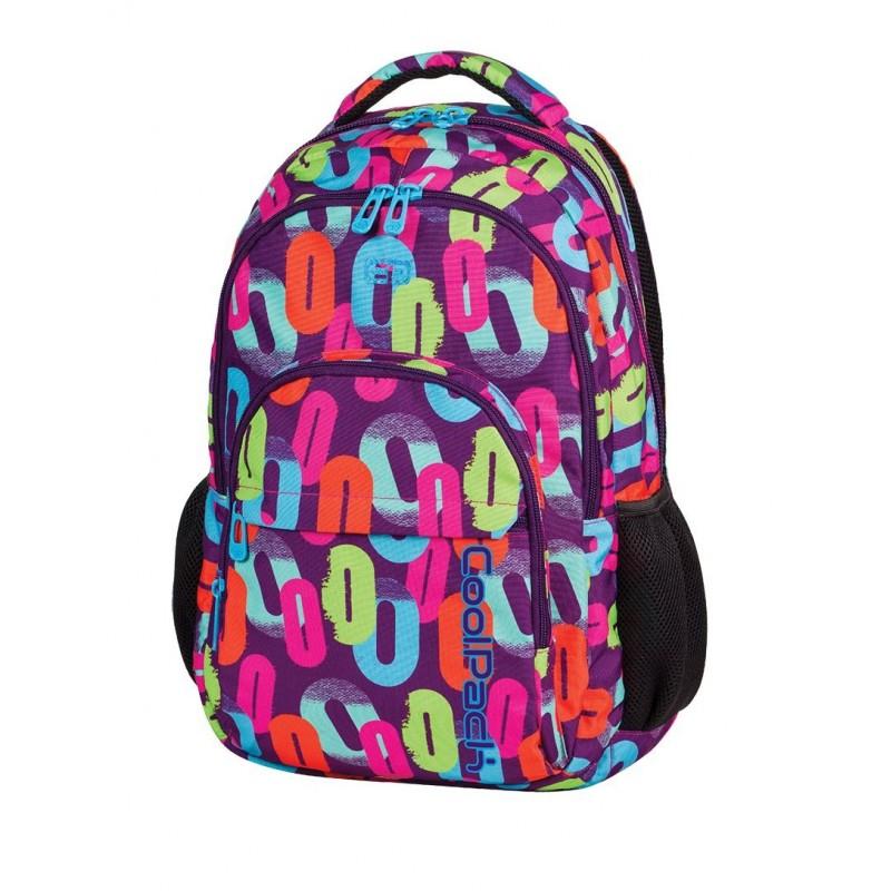Plecak młodzieżowy CoolPack CP w kolorowe zera dla dziewczynki BASIC MULTICOLOR 547