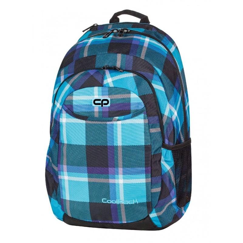 Plecak młodzieżowy CoolPack CP niebieski w kratkę - URBAN SCOTT 386