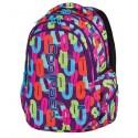 Plecak młodzieżowy CoolPack CP w kolorowe zera – 3 komory JOY MULTICOLOR 546