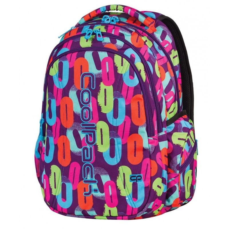 Plecak młodzieżowy CoolPack CP fioletowy w kolorowe zera JOY MULTICOLOR 546