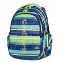 Plecak młodzieżowy CoolPack CP niebieskie i zielone paski – 3 komory JOY BLUE LAGOON 530
