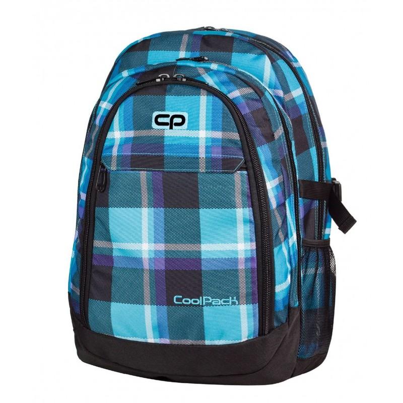 Plecak młodzieżowy CoolPack CP duży niebieski w kratkę - 3 przegrody GRAND SCOTT 384