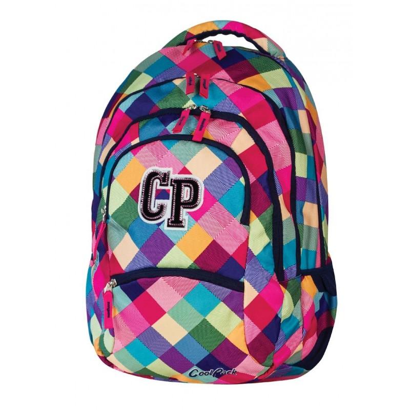 Plecak szkolny CoolPack CP pastelowe kolory w kratkę - kolorowy COLLEGE PATCHWORK 476