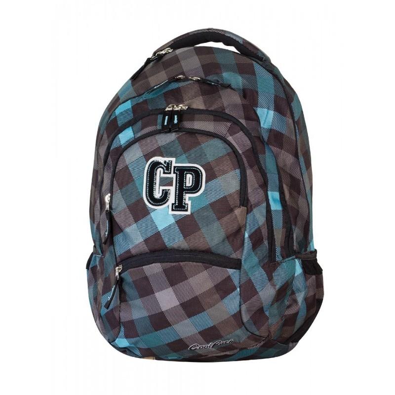 Plecak szkolny CoolPack CP ciemny szary w kratkę - 5 przegród COLLEGE CLASSIC GREY 485