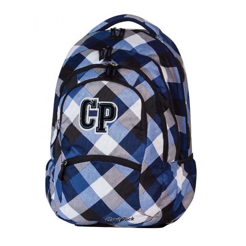 e0f541847cca2 Plecak szkolny CoolPack CP biało niebieski w kratkę 5 przegród COLLEGE  CAMBRIDGE 465