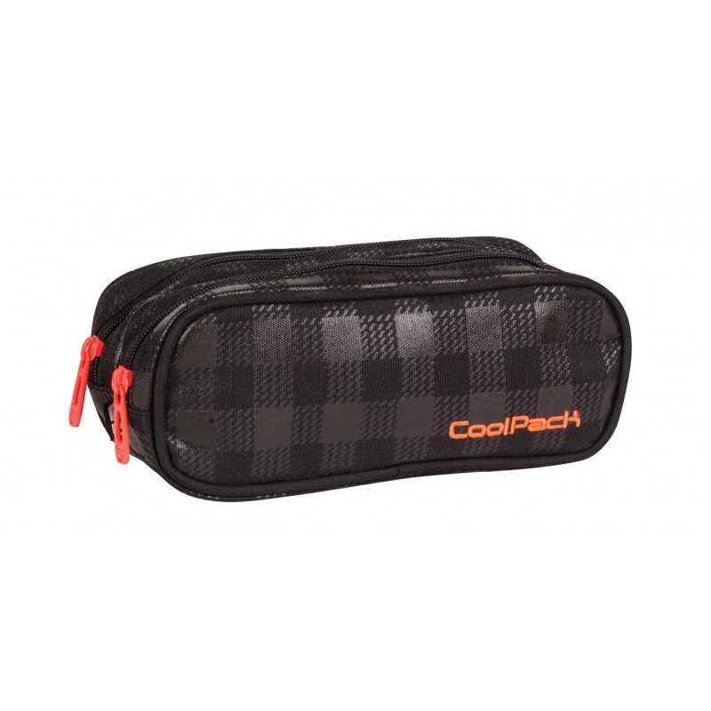 Saszetka podwójna CoolPack CLEVER BLACK & ORANGE CP 426