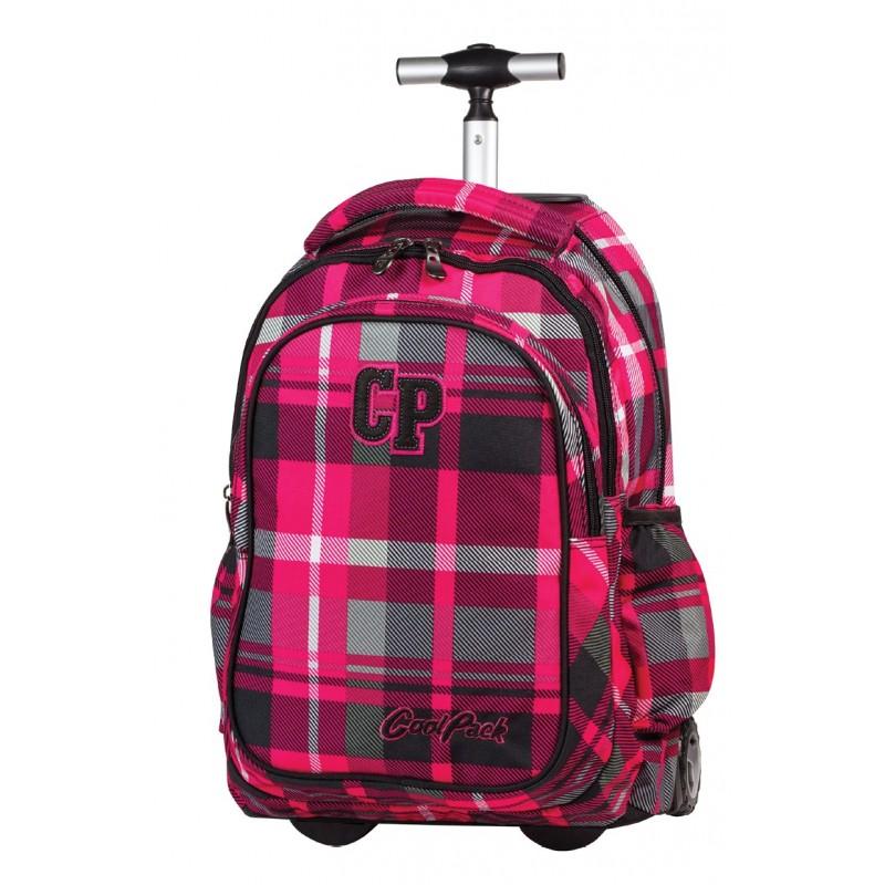 Plecak na kółkach CoolPack CP różowy w kratkę Junior 103A