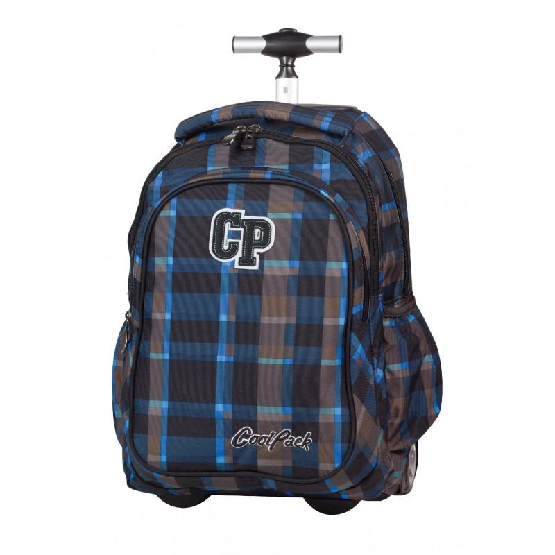 Plecak na kółkach CoolPack CP granatowy i brązowy w kratkę Junior 073A