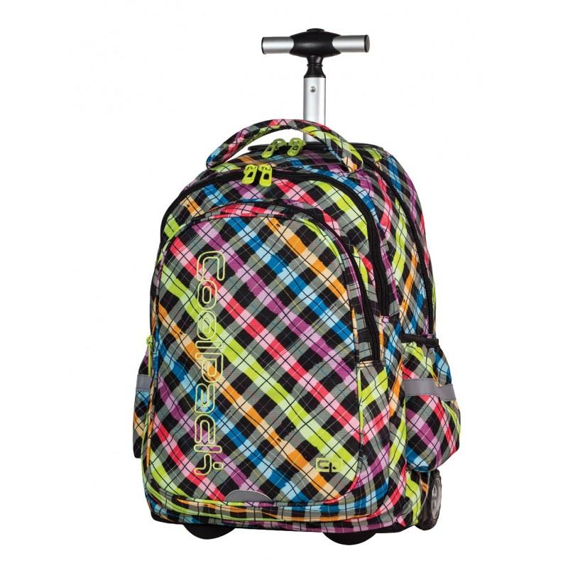 Plecak na kółkach CoolPack CP kolorowy w kratkę Junior COLOUR CHECK 526