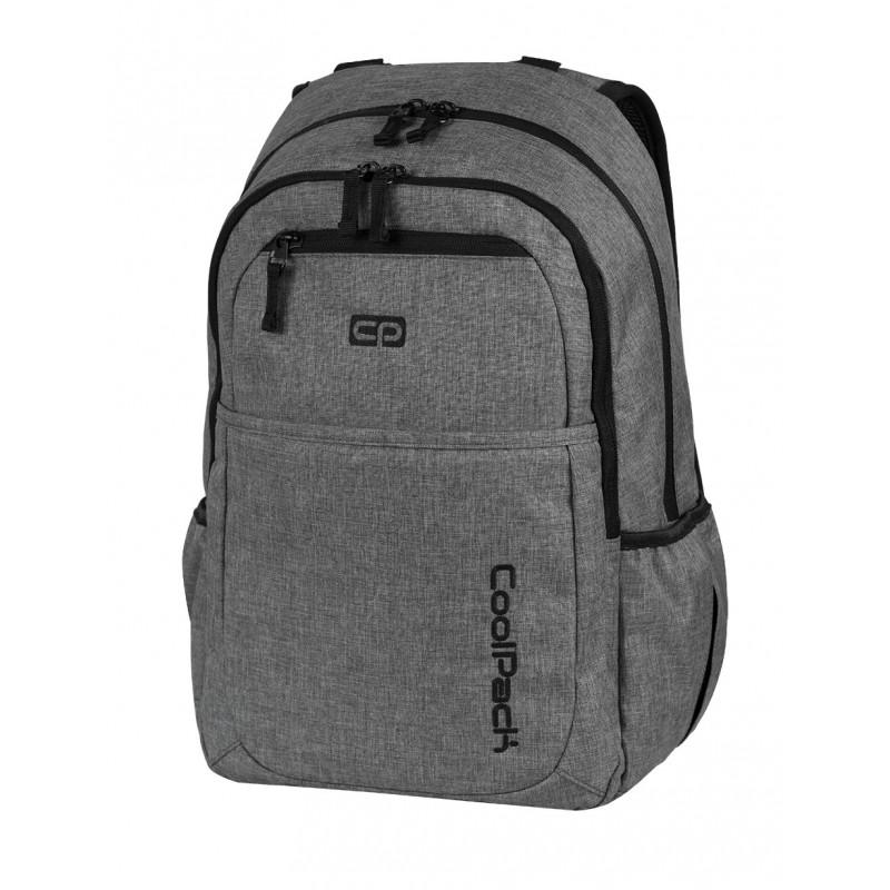 864bdc092e8de Plecak młodzieżowy na laptop CoolPack CP szary denim jeans MERCATOR SNOW  GREY 594